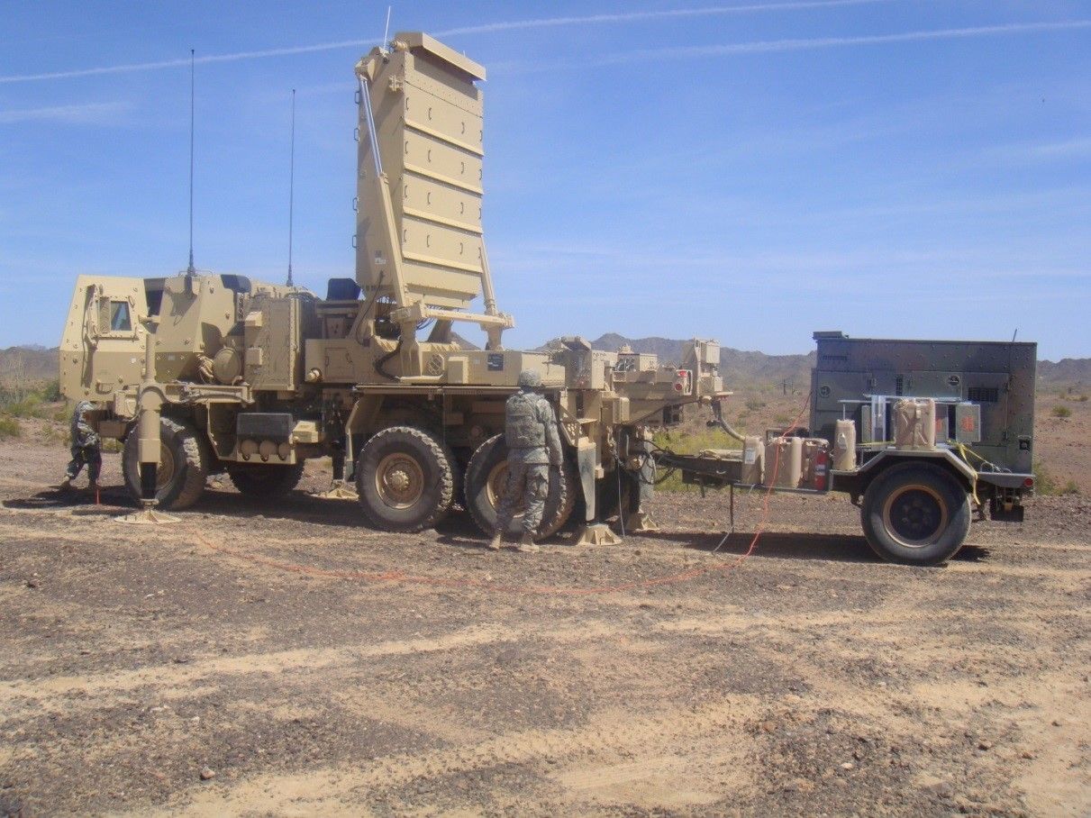 Soldiers emplacing the Q-53 radar
